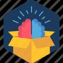 idea, parcel, brain, innovative, business, innovation