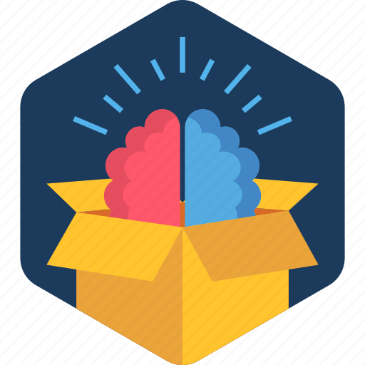 brain, business, idea, innovation, innovative, parcel icon