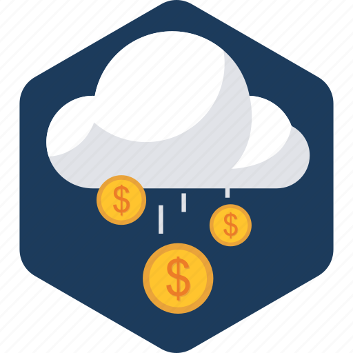 business, charges, cloud, currency, money, server, upload icon