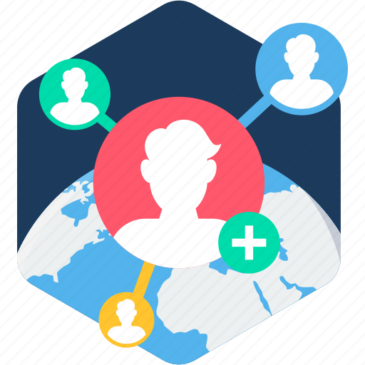 global, globe, links, social, user, users icon