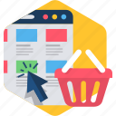 cart, ecommerce, folders, product, shop, webpage icon