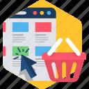 cart, webpage, ecommerce, folders, product, shop