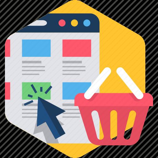 cart, ecommerce, folders, product, shop, webpage icon