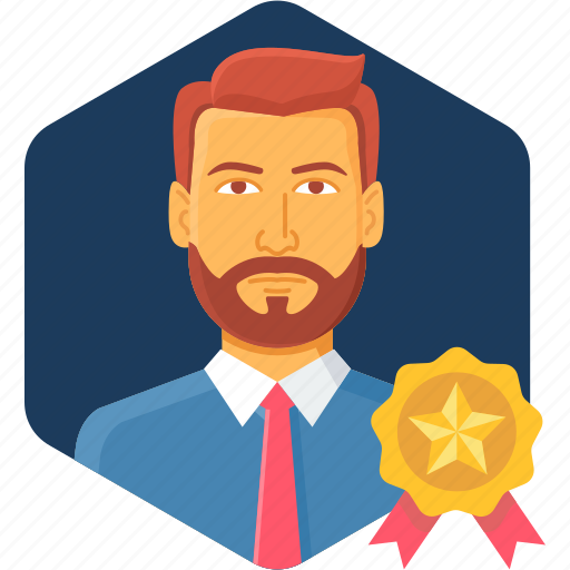 employee, favorite, medal, prize, rate, rating, star icon