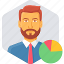 employee, graph, analytics, business, chart, diagram, statistics icon