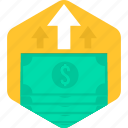 bank, cash, currency, money, note, payment, shopping icon