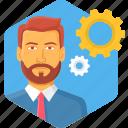 man, process, processing, avatar, male, person, profile