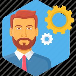 avatar, male, man, person, process, processing, profile icon