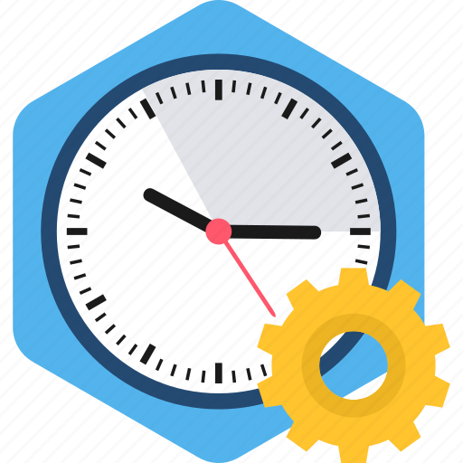 clock, process, processing, setting, settings, time, watch icon