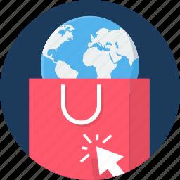 abroad, buy, click, ecommerce, sales, seo, shop icon