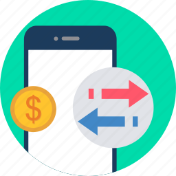 email, incoming, mail, message, mobile, outgoing, salary icon