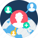 global, social, connectivity, internet, network, profile, users