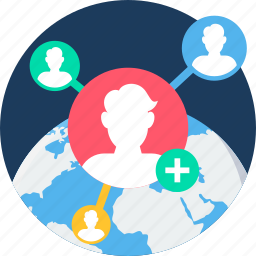 connectivity, global, internet, network, profile, social, users icon