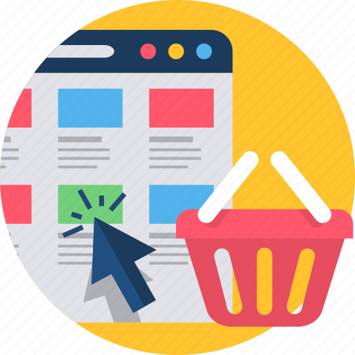 Cart, shopping, webpage, folders, online, store, website icon - Download on Iconfinder