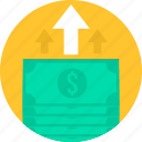 banking, currency, finance, loan, money, paper, payment icon