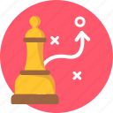 business, chess, manage, manager, marketing, planning, strategy icon