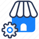 home, maintance, setting, shady, shop, store icon