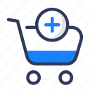 add to cart, business, marketing, office, rolley cart, shady icon