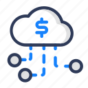 branch, business, cloud, finance, shady icon