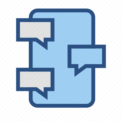 chat, chatting, smartphone icon
