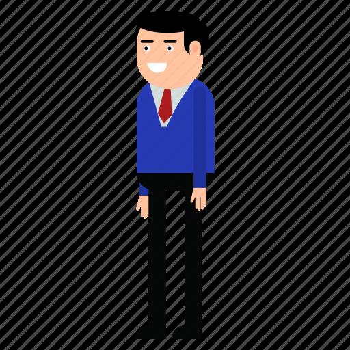 businessman, man, manager, suit icon