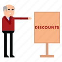 discounts, client, ad, advertisement, board