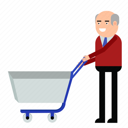 buyer, cart, client, man, shop, shopping icon