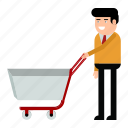 buyer, marketing, client, shopping, cart, man