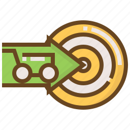 advertising, arrow, business, e-commerce, marketing, shopping, target icon