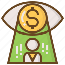 advertising, business, e-commerce, marketing, money, shopping, vision icon