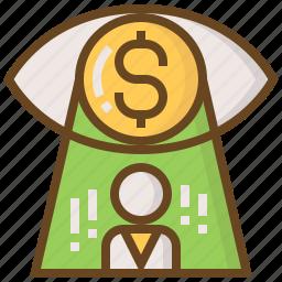 advertising, business, e-commerce, marketing, money, shopping, vision icon