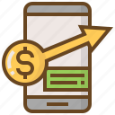 advertising, business, e-commerce, marketing, money, shopping, smartphone icon