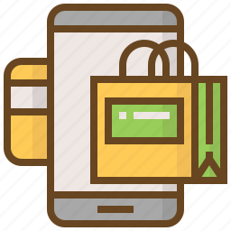 advertising, card, credit, e-commerce, marketing, shopping, smartphone icon