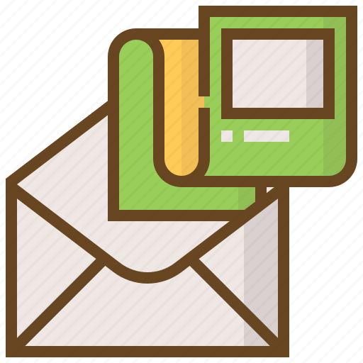 advertising, business, e-commerce, mail, marketing, paper, shopping icon