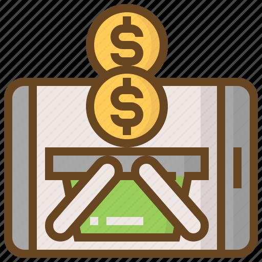 advertising, business, e-commerce, marketing, money, shopping, smartphone icon