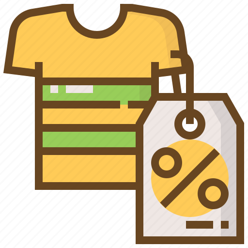 advertising, business, discount, e-commerce, marketing, shirt, shopping icon