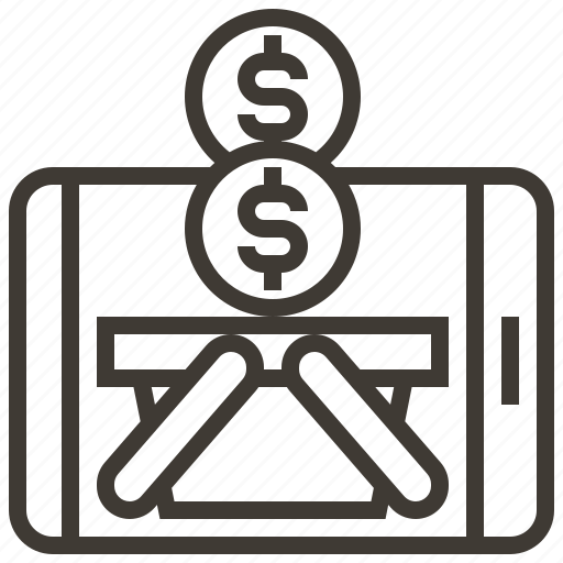 basket, e-commerce, marketing, money, payment, smartphone, strategy icon
