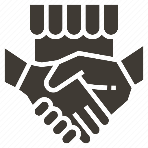 advertising, e-commerce, marketing, payment, shake hand, shop, strategy icon