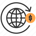 commerce, marketing, global, strategy, advertising, money, payment icon