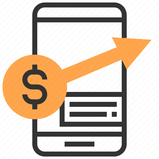 advertising, commerce, marketing, money, payment, smartphone, strategy icon