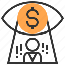 advertising, commerce, marketing, money, payment, strategy, vision icon
