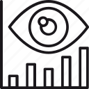 analytics, chart, eye, forecast, graph, market, prediction icon