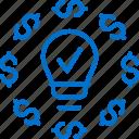 business, crowdfunding, finance, idea, innovation, money, networking icon