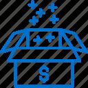 bonus, box, finance, income, money, package, profit icon