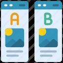 ab, testing, advertising, test, tests icon