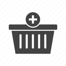 add, basket, business, grocery, market, shopping, supermarket icon