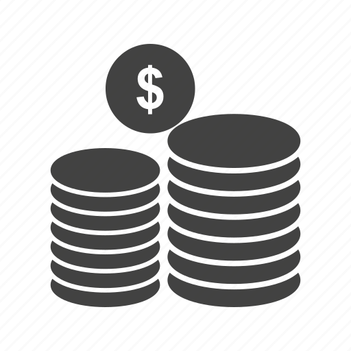 business, coin, coins, currency, dollar, finance, money icon