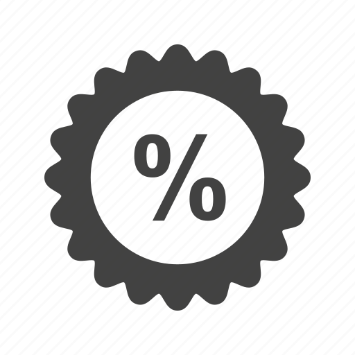 business, discount, finance, interest, percent, percentage, sign icon