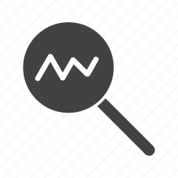 analysis, business, data, magnifying glass, marketing, research, statistics icon