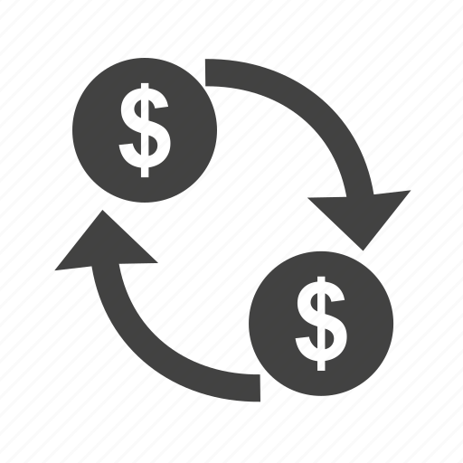 currency, dollar, finance, growth, money, transaction, transfer icon